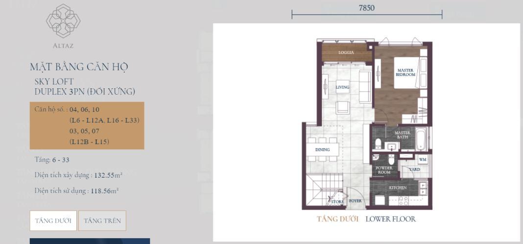 Căn hộ tầng 16 tháp Altaz dự án Feliz en Vista nội thất cơ bản