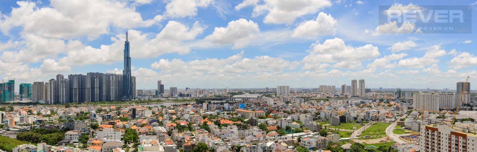 View Panorama Bán penthouse De Capella 3PN, block A, diện tích 193m2, view sông và Landmark 81