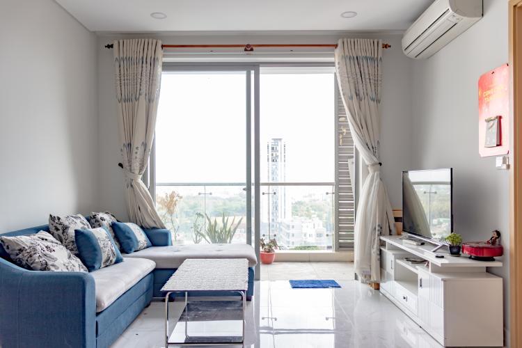 Phòng Khách Bán căn hộ An gia Skyline 2PN, tầng thấp, đầy đủ nội thất, view hồ cảnh quan
