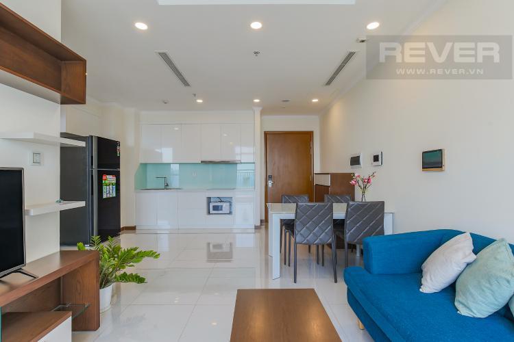 Phòng Khách Bán căn hộ Vinhomes Central Park 2PN, tầng cao, nội thất đầy đủ, view sông thoáng mát