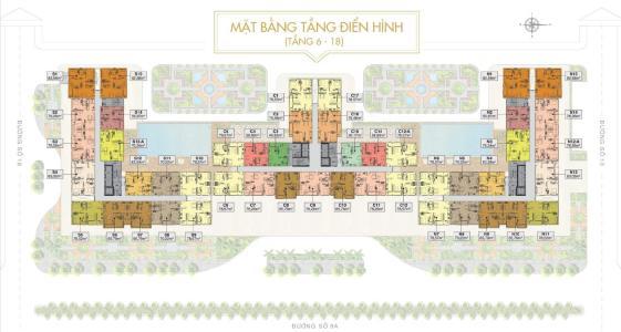 Bán căn hộ Saigon Mia 2 phòng ngủ, diện tích 76m2, nội thất cơ bản