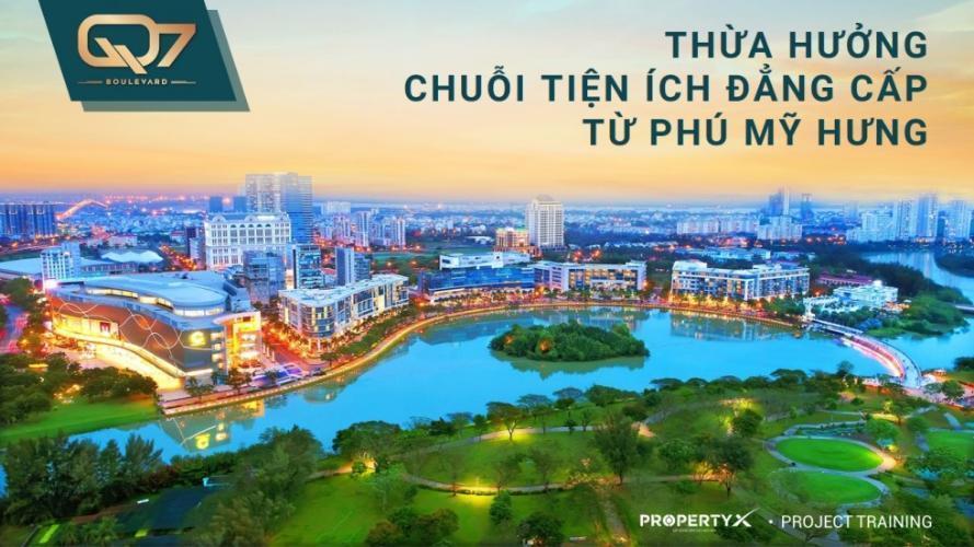 image (4) Bán căn hộ Q7 Boulevard 3 phòng ngủ diện tích 75.59m2. Ban công hướng Nam, view hồ bơi