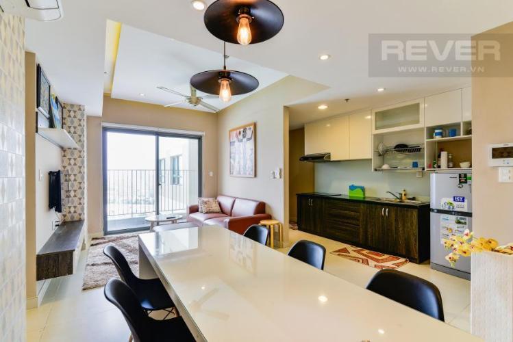 Không gian sinh hoạt chung Căn hộ Masteri Thảo Điền 2 phòng ngủ tầng cao T1 đầy đủ nội thất