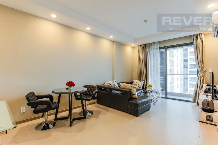 Phòng Khách Căn hộ The Gold View 1 phòng ngủ tầng cao A3 đầy đủ nội thất