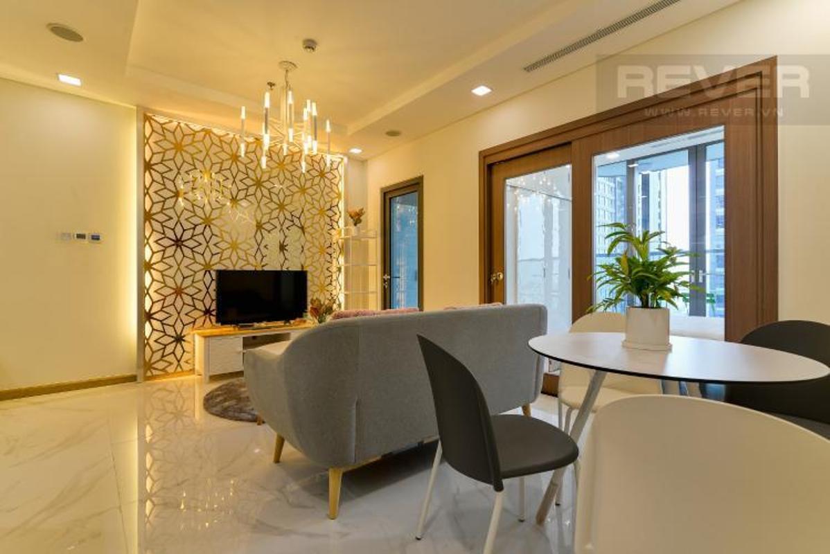 Ez0YStmGetkvZrrP Cho thuê căn hộ Vinhomes Central Park 1 phòng ngủ, tháp Landmark 81, đầy đủ nội thất, view Xa lộ Hà Nội
