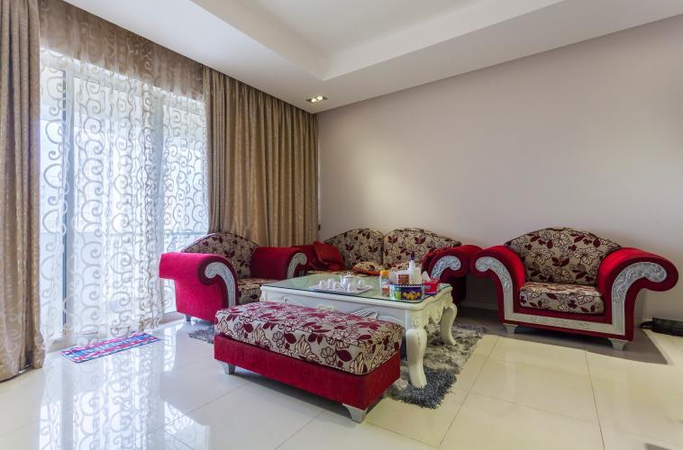 Phòng khách Căn hộ Estella An Phú tầng cao 2 phòng ngủ, đầy đủ tiện nghi