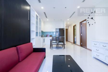 Cho thuê căn hộ Vinhomes Central Park 1PN, đầy đủ nội thất, hướng ban công Đông Nam, view thành phố