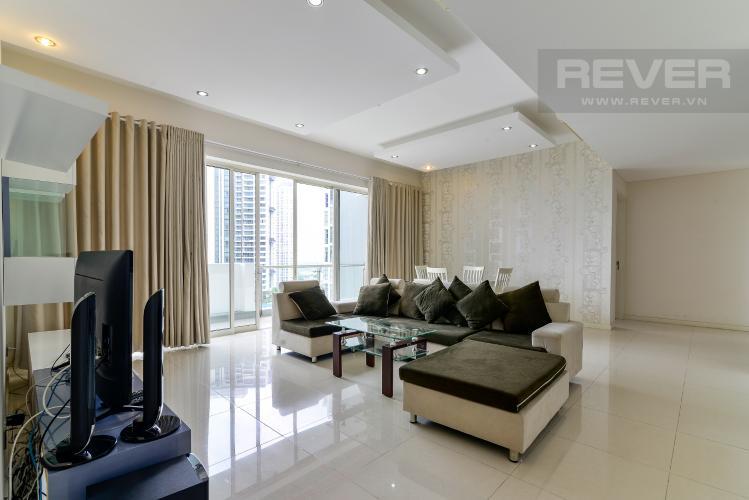 Phòng Khách Cho thuê căn hộ The Estella Residence 3PN, tầng trung, đầy đủ nội thất, view hồ bơi và Landmark 81