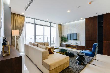 Căn góc Vinhomes Central Park 4 phòng ngủ tầng cao P2 full nội thất