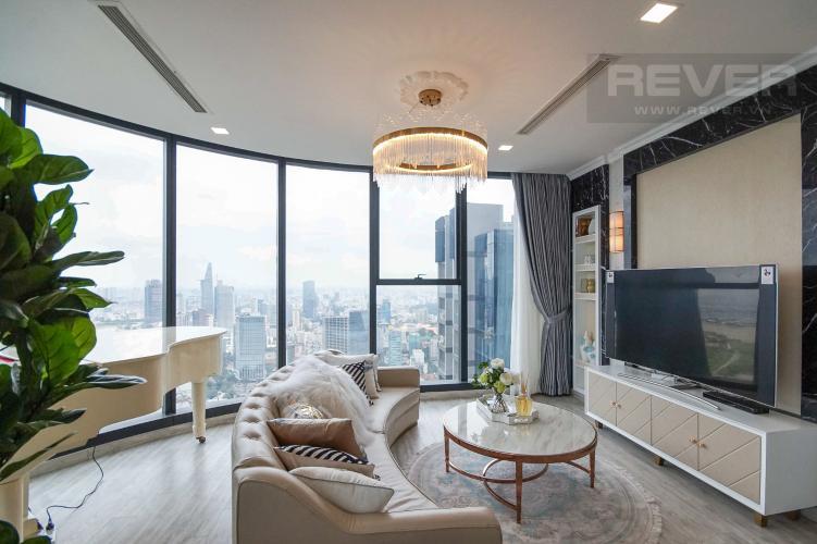 Phòng Ngủ 1 Cho thuê căn hộ Vinhomes Golden River 4PN, tầng cao, đầy đủ nội thất, view trực diện sông Sài Gòn