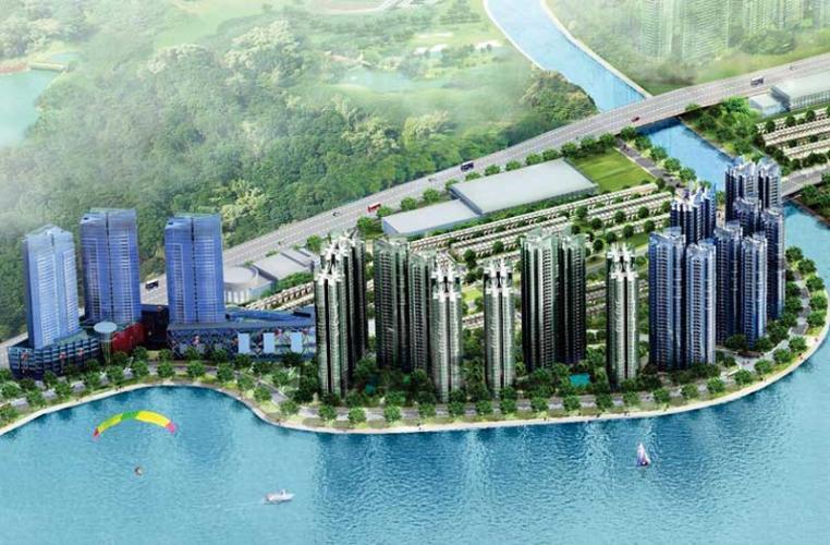Tiện ích căn hộ Palm Garden Căn hộ Palm Garden thô thuận tiện thiết kế, view thành phố.