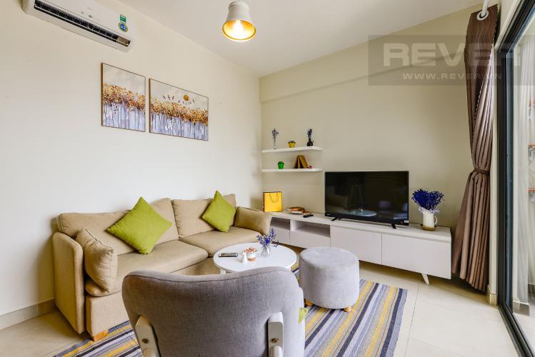Phòng khách Cho thuê căn hộ Masteri Thảo Điền tầng cao, 2PN, đầy đủ nội thất, view sông