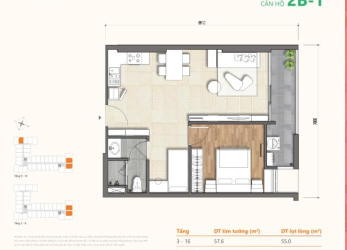 Căn hộ tầng cao Tháp A Dự án Ricca bàn giao nội thất cơ bản