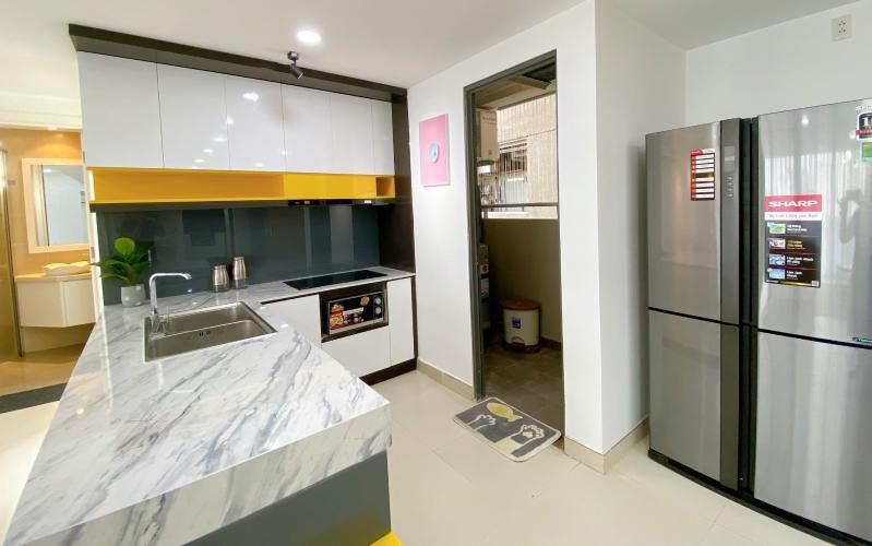Phòng bếp Masteri Thảo Điền Quận 2 Căn hộ Masteri Thảo Điền view nội khu hồ bơi, nội thất sang trọng.