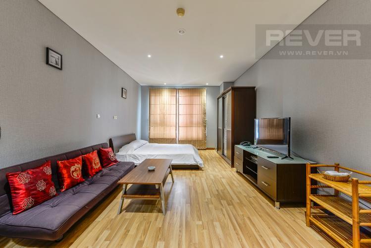 Phòng khách Cho thuê căn hộ The Lancaster tầng trung, 1PN, đầy đủ nội thất