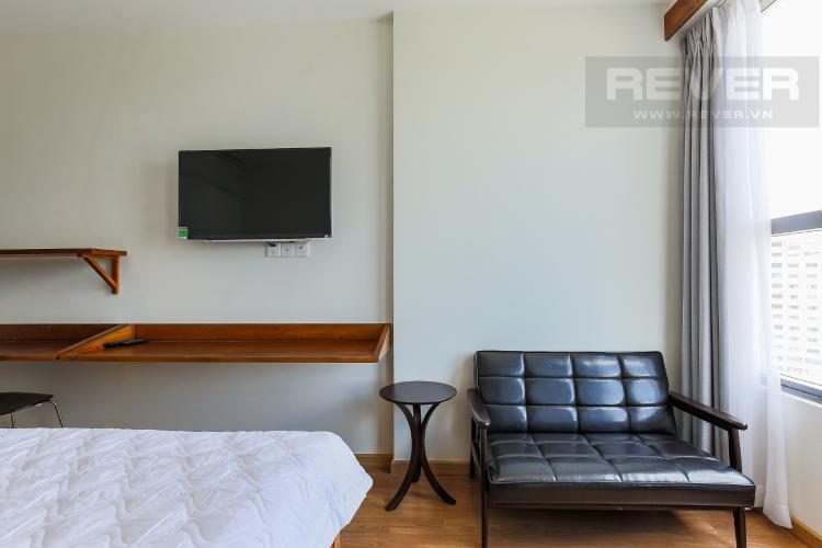 Salon Căn hộ RiverGate Residence 1 phòng ngủ tầng trung tháp B nội thất đơn giản