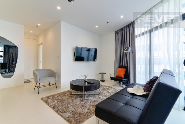 Phòng Khách Bán hoặc cho thuê căn hộ City Garden 100m2 2PN 2WC, view nội khu, nội thất cao cấp
