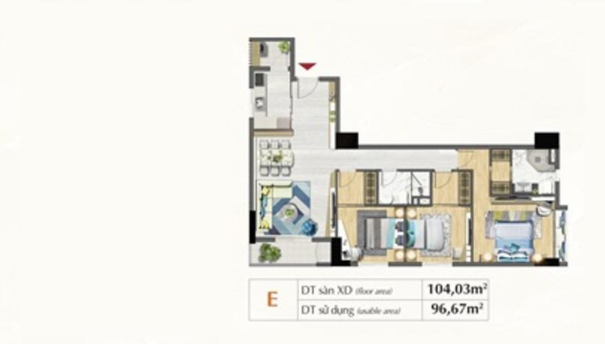 Layout căn hộ Saigon South Residences Căn hộ Saigon South Residences tầng trung, đầy đủ nội thất