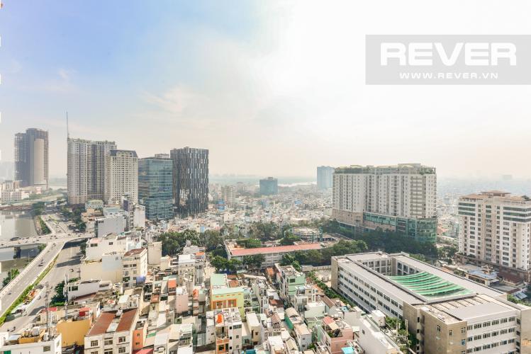 View Cho thuê căn hộ Masteri Millennium tầng cao 2PN đầy đủ nội thất