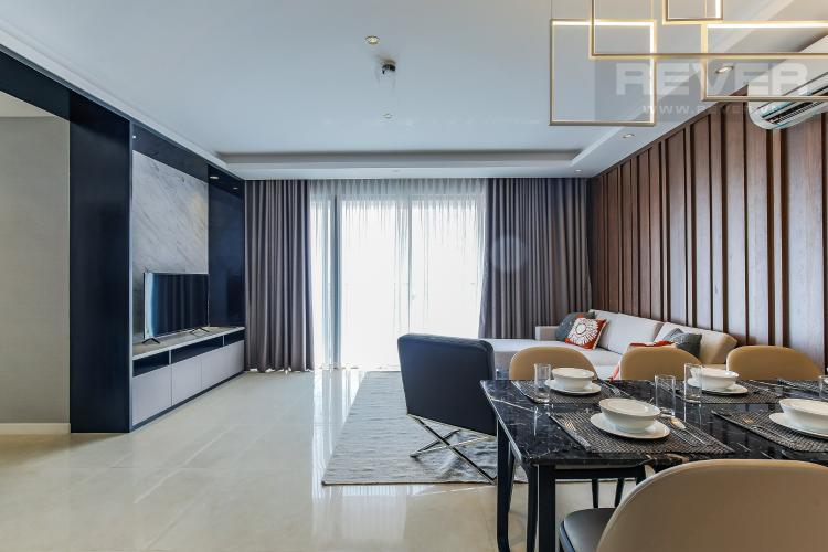 Phòng Khách Căn hộ Masteri Millennium tầng cao 3PN đầy đủ nội thất
