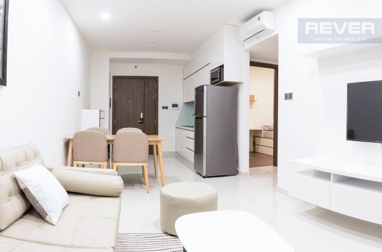 Phòng Khách Bán hoặc cho thuê căn hộ Saigon Royal 1PN, tháp A, đầy đủ nội thất, diện tích 53m2