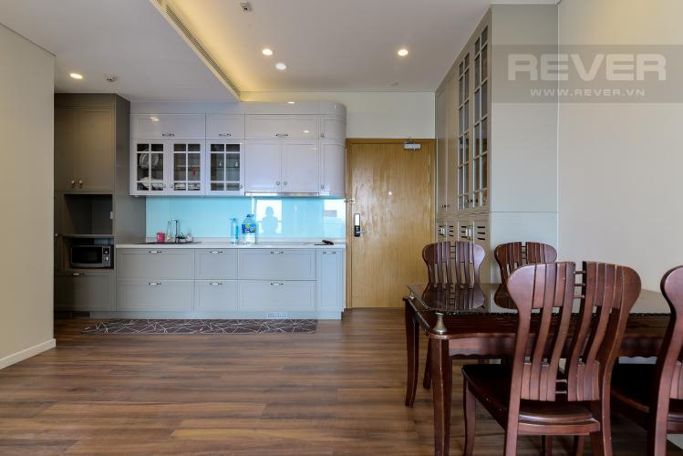 Phòng Ăn & Bếp Cho thuê căn hộ Diamond Island - Đảo Kim Cương 1PN, tầng trung, tháp Hawaii, đầy đủ nội thất, view hồ bơi