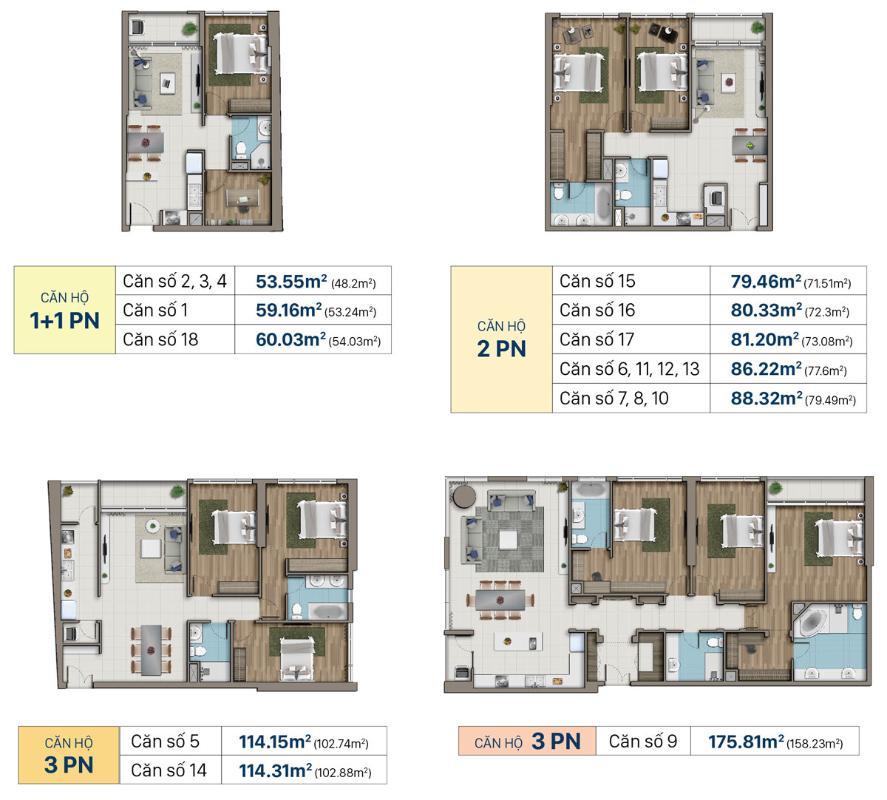 mau-can-ho-saigon-royal-ben-van-don-quan-4 Bán hoặc cho thuê căn hộ Saigon Royal 3PN, tháp A, đầy đủ nội thất, view sông và Bitexco
