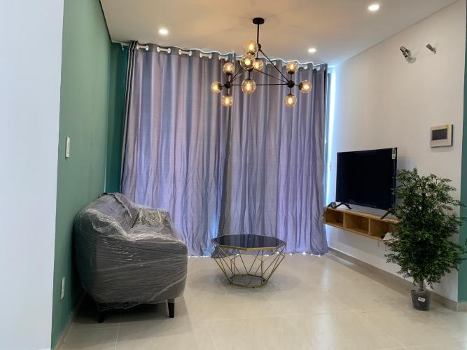 Phòng khách căn hộ Thủ Thiêm Dragon Bán căn hộ tầng cao Thủ Thiêm Dragon nội thất cơ bản.