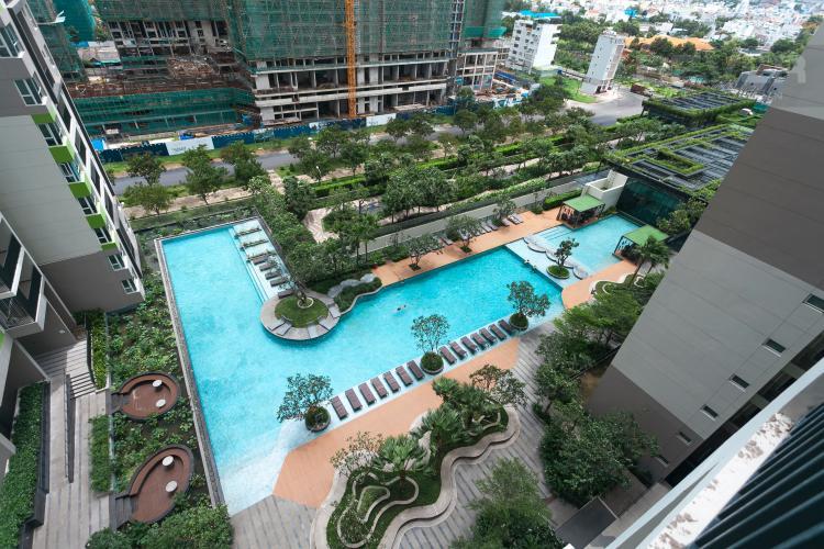 View Căn hộ Vista Verde tầng thấp, tháp T2, 2 phòng ngủ, view hồ bơi
