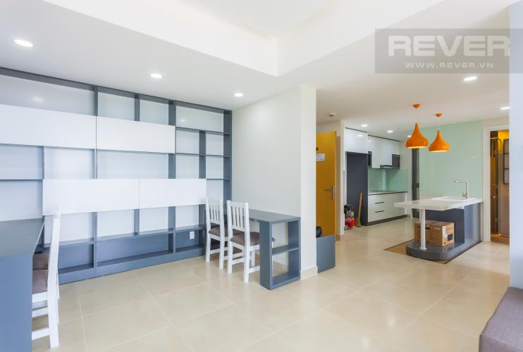Không gian phòng làm việc thoáng đãng Căn hộ Masteri Thảo Điền tầng cao T4B 3 phòng ngủ, nội thất tinh tế