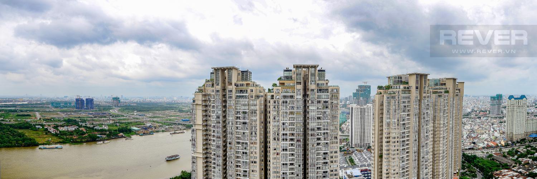 View Căn hộ Vinhomes Central Park tầng cao 4PN đầy đủ nội thất, view sông