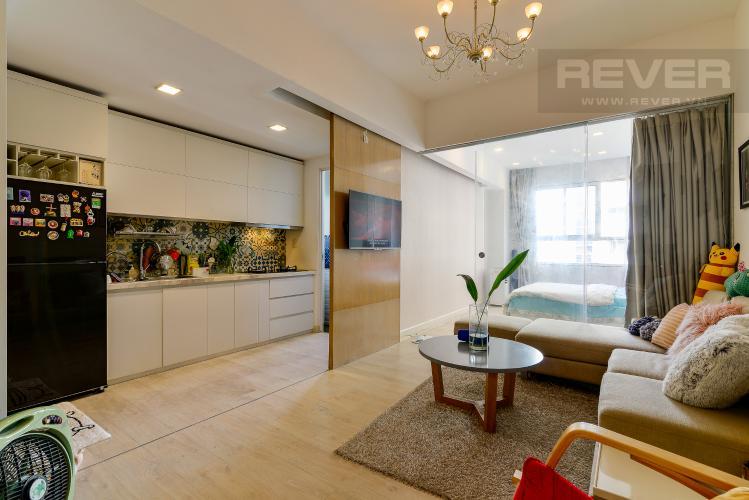 Phòng Khách Bán căn hộ Lexington Residence 1PN tầng trung, đầy đủ nội thất, view nội khu và Landmark 81