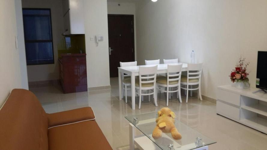 Cho thuê căn hộ tầng trung view sông, nội thất cơ bản The Sun Avenue