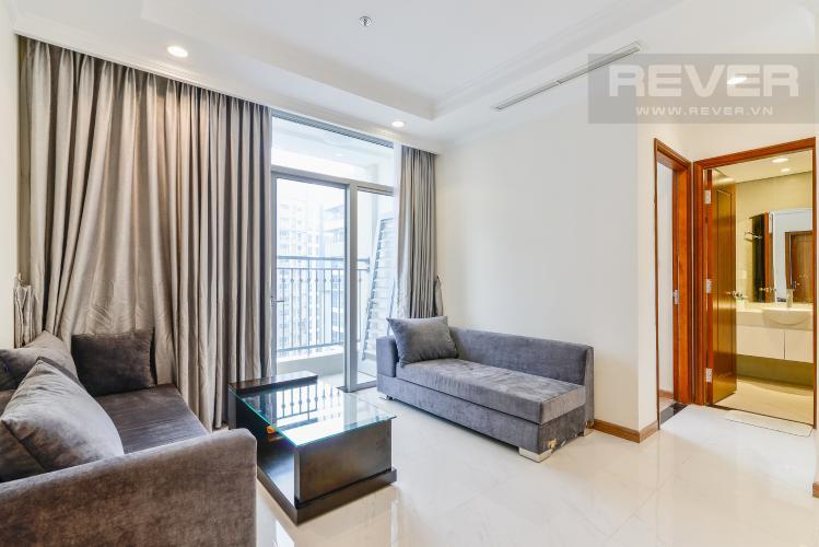 Phòng Khách Căn hộ Vinhomes Central Park tầng cao C2, 2 phòng ngủ, nội thất cơ bản