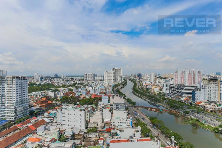 View Căn hộ RiverGate Residence 2 phòng ngủ tầng trung tháp A view sông