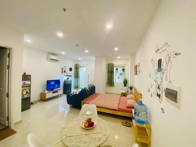 Căn hộ Officetel Saigon Mia tầng trung, nội thất đầy đủ.