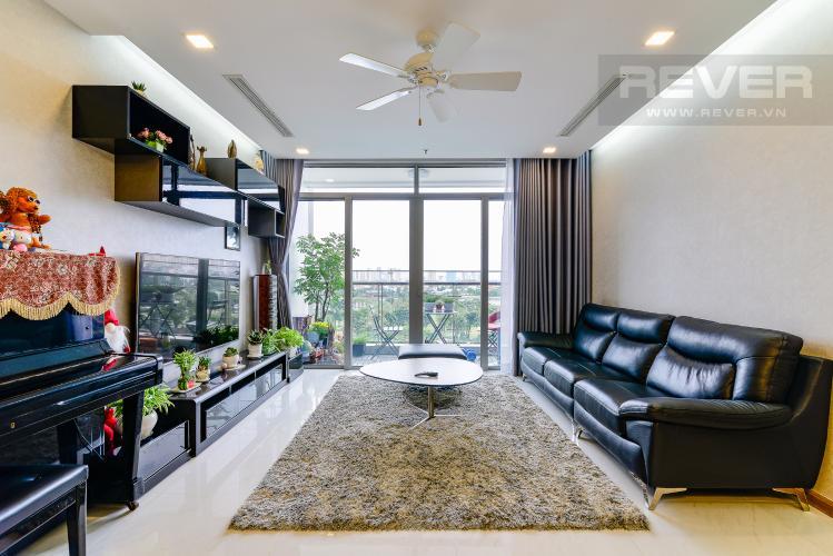 Phòng Khách Bán căn hộ Vinhomes Central Park 4PN, đầy đủ nội thất, có thể dọn vào ở ngay