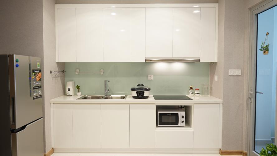 khu vực bếp căn hộ Vinhomes Central Park Căn hộ Vinhomes Central Park tầng 19 nội thất đầy đủ