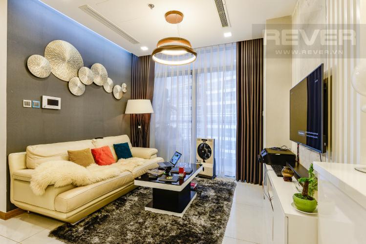 Phòng khách Bán căn hộ Vinhomes Central Park tầng trung 3PN đầy đủ nội thất view sông
