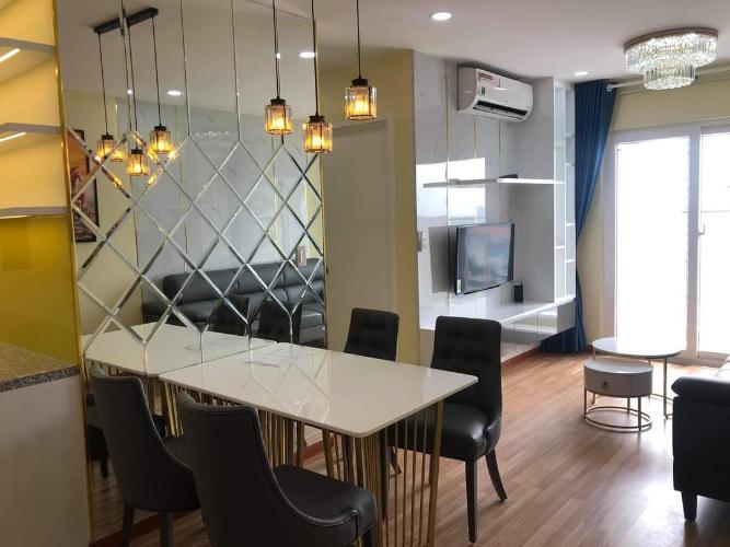 phòng ăn căn hộ diamond riverside Căn hộ Diamond Riverside  tầng cao, ban công hướng Bắc.