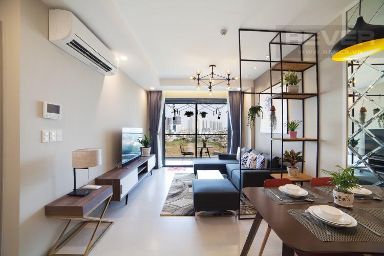 Phòng khách Căn hộ The Gold View 2 phòng ngủ tầng thấp tháp B nội thất đầy đủ