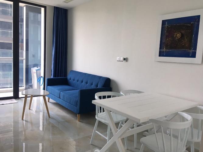 Cho thuê căn hộ Vinhomes Golden River 1PN, tháp The Aqua 1, diện tích 49m2, đầy đủ nội thất, view sông