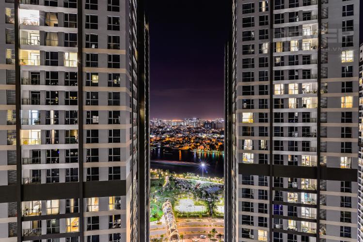 View Căn hộ Vinhomes Central Park 3 phòng ngủ tầng cao P7 view sông
