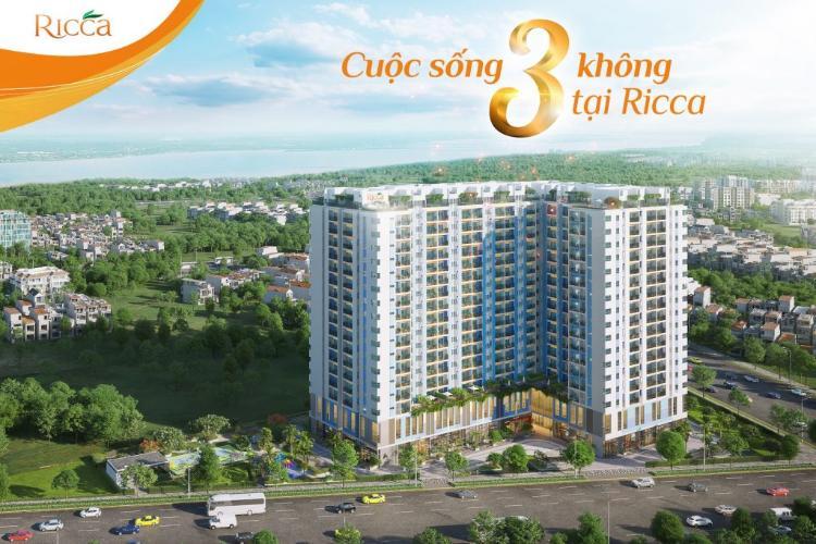 Bán căn hộ Ricca, 2 phòng ngủ, diện tích 55.9m2, nội thất cơ bản.
