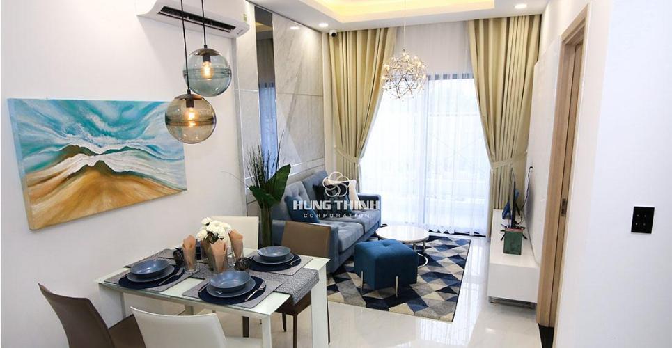 Phòng khách nhà mẫu căn hộ Q7 SAIGON RIVERSIDE Bán căn hộ Q7 Saigon Riverside thuộc tầng trung, diện tích 69.19m2, thiết kế hiện đại, chưa bàn giao.