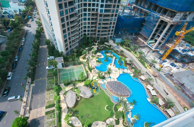 View Căn góc Estella Heights 3 phòng ngủ tầng trung T1 view hồ bơi
