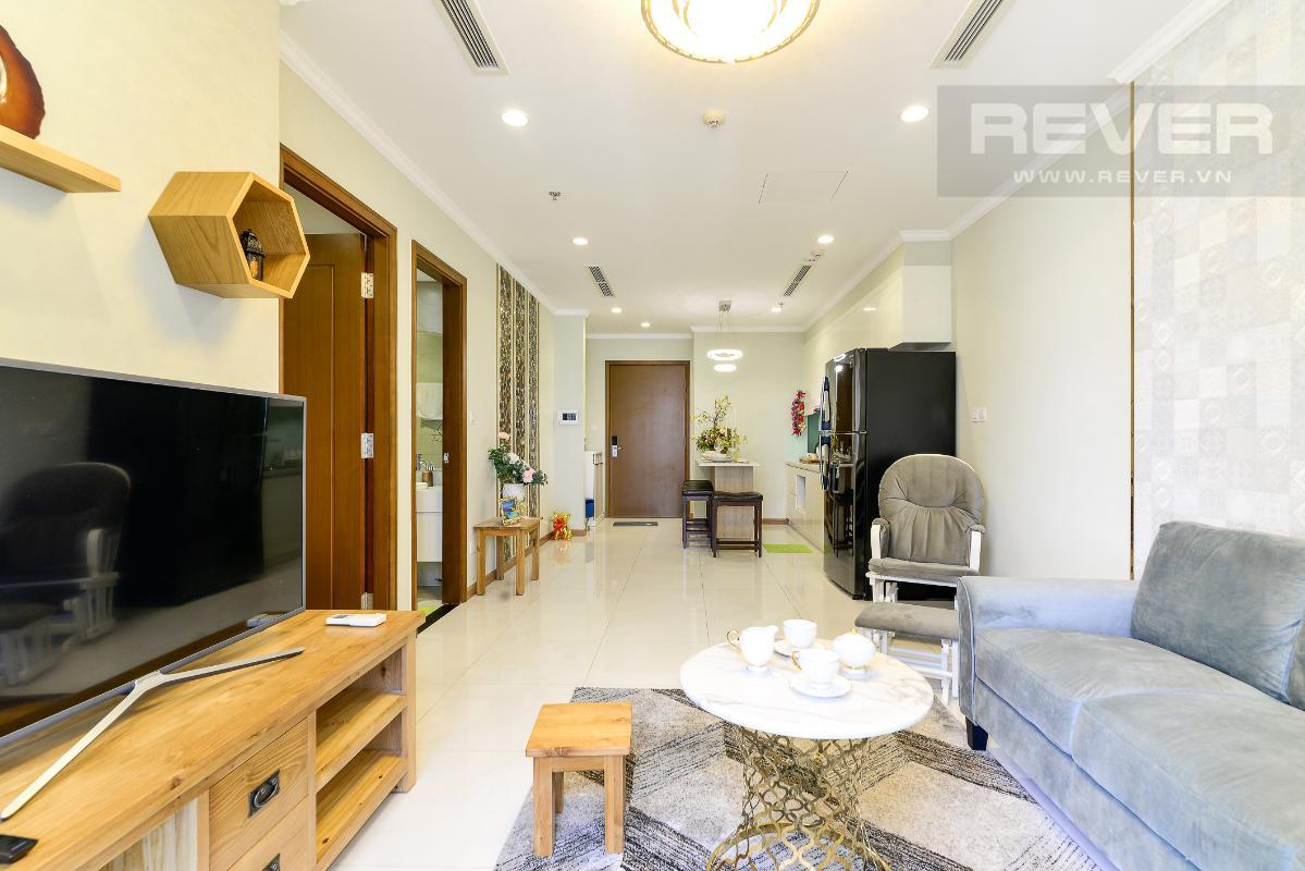 _DSC3976 Bán căn hộ Vinhomes Central Park 1PN, tháp Landmark 3, diện tích 54m2, đầy đủ nội thất, view sông