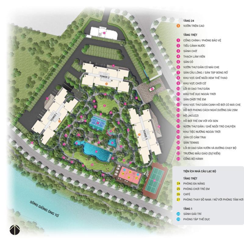 palm-height-site-plan-vn Bán căn hộ Palm Heights 2PN, tầng trung, diện tích 75m2, nội thất cơ bản