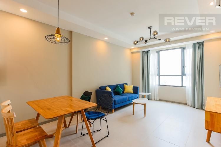 Phòng Khách Căn hộ The Gold View 2 phòng ngủ tầng cao A2 nội thất đầy đủ