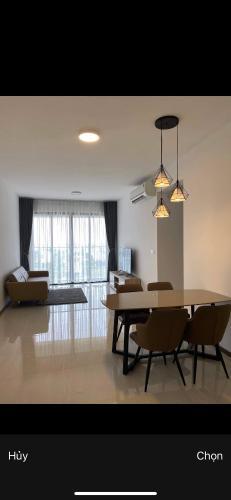 Phòng khách One Verandah Quận 2 Căn hộ One Verandah tầng trung, view sông, đầy đủ nội thất.